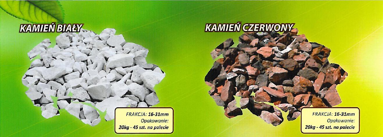 Kamienie i kruszywa dekoracyjne Zielona Oaza producent