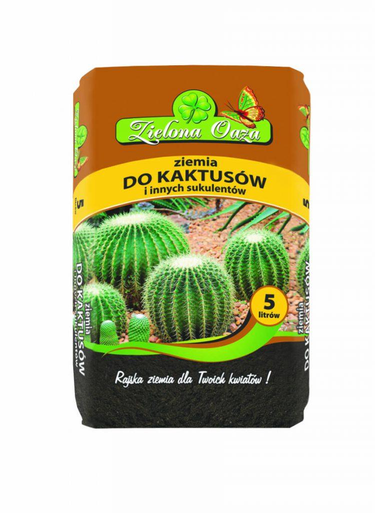 Dobre podłoże do kaktusów i sukulentów Zielona Oaza