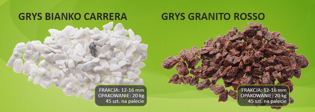 Grys biały i granitowy Zielona Oaza