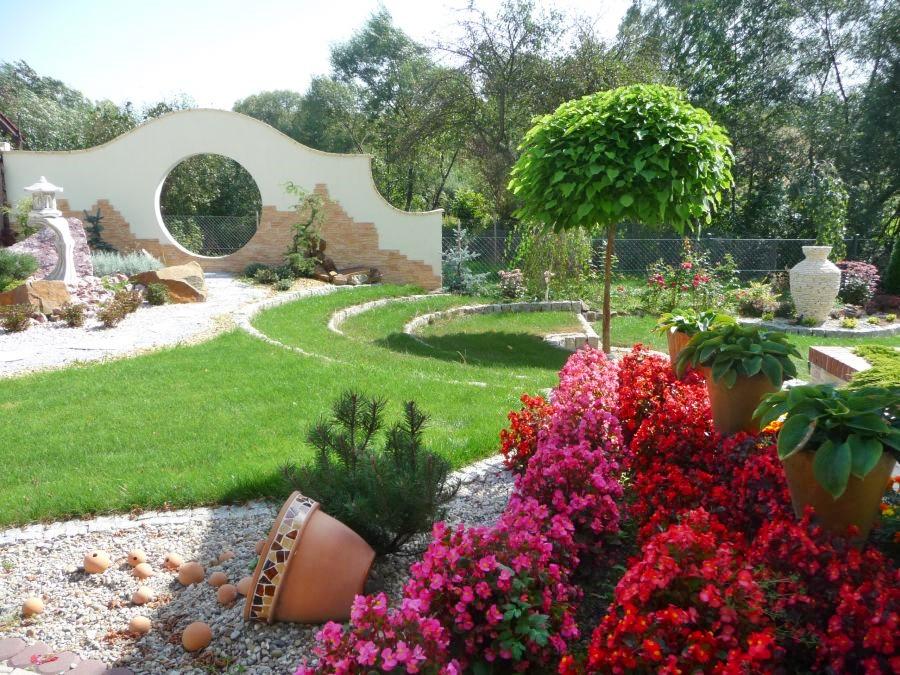 Grys dekoracyjny Zielona Oaza w ogrodzie