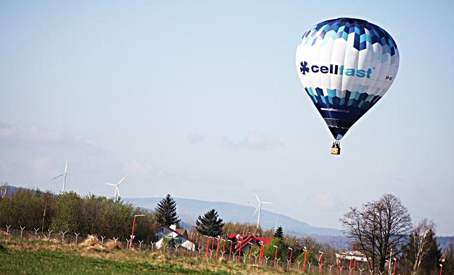 Lot balonem - Cellfast Ballon Team